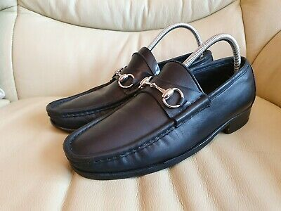 Gucci Vintage Black Mens Shoes Horsebit Loafers UK  8     US  9    EU 42