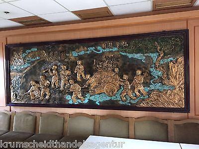 Gemälde asiatisches Motiv, Asia-Bild für Restaurant,360,5x133,2x4,7cm mit Rahmen