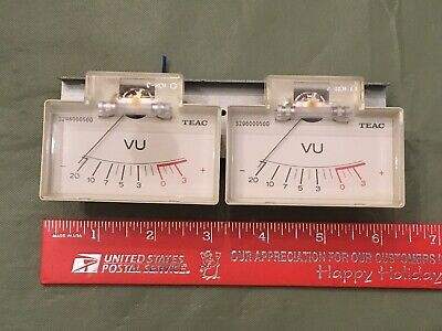 Two 2 Analog Teac Vu Meters Wmounting Bracket And Bezel