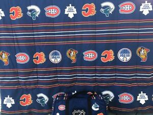 NHL twin comforter and sheet set