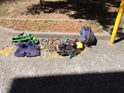 Complete arborist climbing equipment