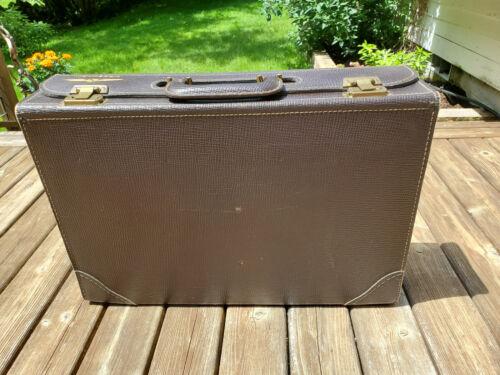 Vintage Jeppesen Captain Pilot Flight Case w/keys Genuine Cowhide
