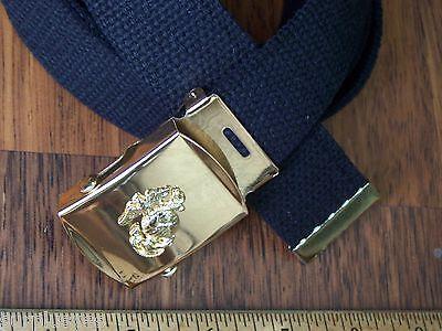 Belt & Buckle USMC Web Marine Corps  Military Style Semper Fi with P38