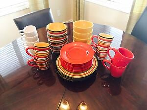 New, Never Used, 30 Piece , Show Home Dining Set
