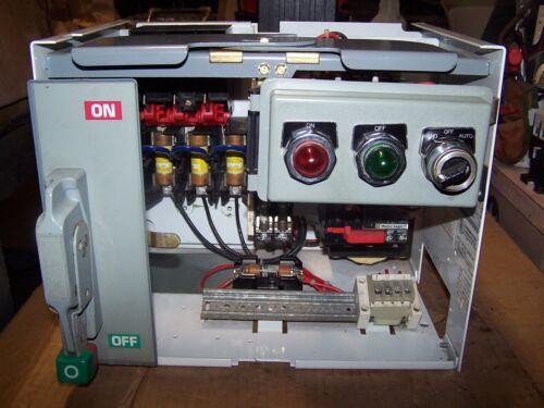 SQUARE D SIZE 1 MOD 6 FUSIBLE MCC MOTOR CONTROL BUCKET 8536SCO3H209S 3-9 AMP