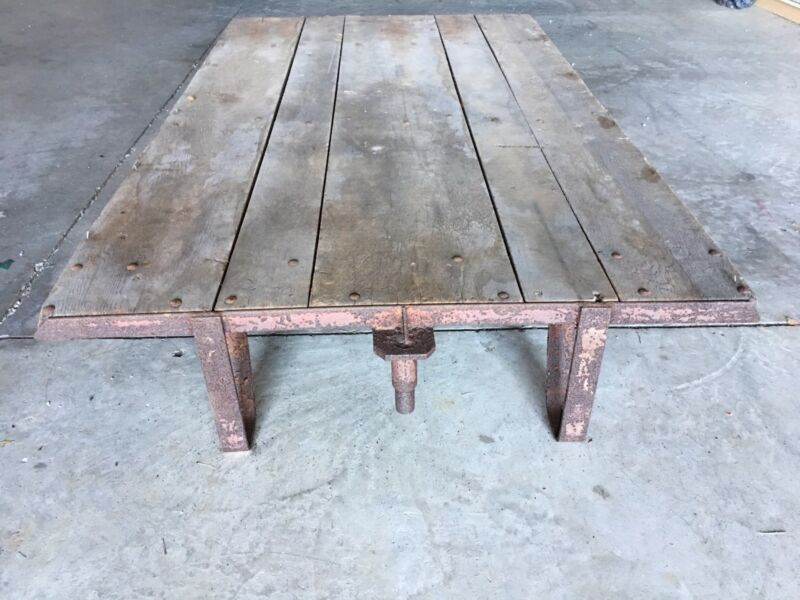 Vintage Industrial Pull Cart - All Original