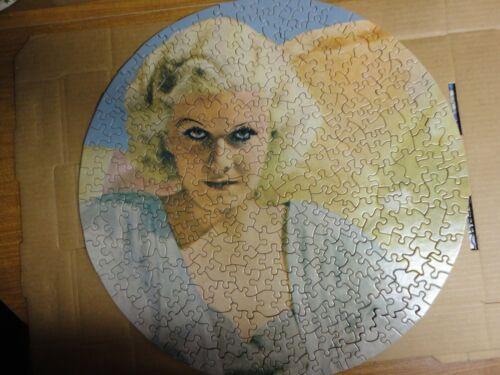 "Vintage 1969 18"" round puzzle of Jean Harlow"