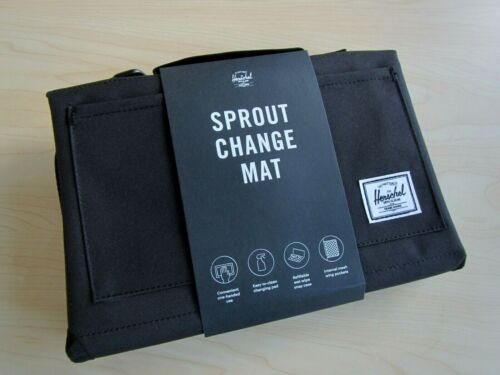 NEW 2021 HERSCHEL SUPPLY CO SPROUT CHANGE BABY CHANGING MAT BLACK SHOWER GIFT