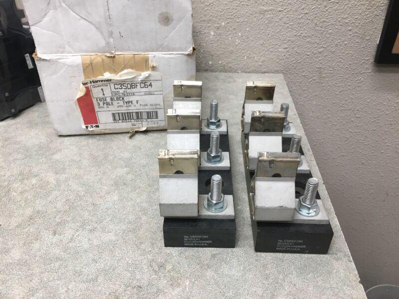 CUTLER HAMMER C350BFC64 FUSE BLOCK 3 POLE 200 AMP 250-600 VOLT (I)