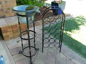 Wrought Iron Plant Stand and Wine Rack Emu Plains Penrith Area Preview