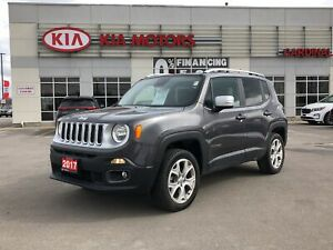 2017 Jeep Renegade LIMITED with NAVIGATION and 4X4 and LEATHER