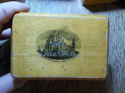 ANTIQUE MAUCHLINE BOX CASKET DUNFIRMLINE ABBEY FROM THE N.E.