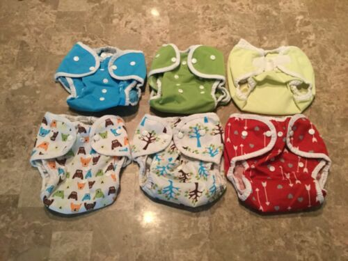 Thirsties Duo Wrap Size 2 Cloth Diaper Covers - Lot of 6 - EUC