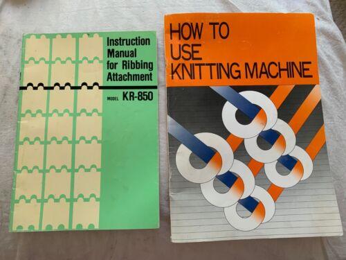 BK316 BROTHER KNITTING MACHINE BOOKS KR850 RIBBER & KH-860 INSTRUCTION MANUAL X1