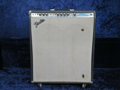Vintage Fender Bassman Ten Silverface Configuration Amp Ser#A77500 Good Tone