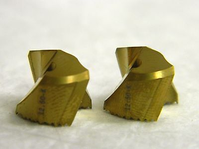 Seco Carbide Replaceable Drill Tip Inserts Sd100 Grade 12.50-k Qty 2 90319