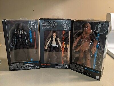 Star Wars The Black Series Lot Darth Vader Han Solo Chewbacca Boxed Never Opened