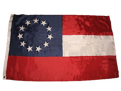 3x5 Stars and Bars First National 11 Southern States CSA Civil War flag 3'x5'