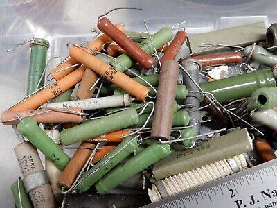 Almost 3 Pounds Vintage Power Resistors As Shown