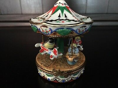 Authentic Limoges Trinket Box: Carousel or Merry Go Round