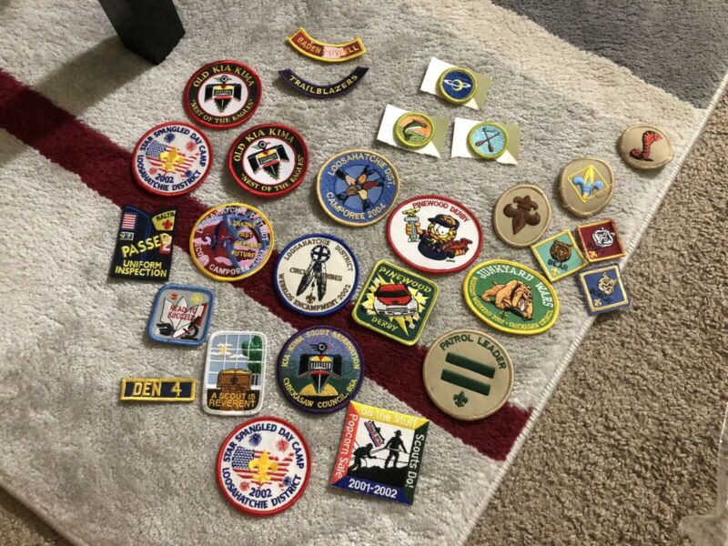 BSA Lot Random Patches Pieces Boy Scouts Of America
