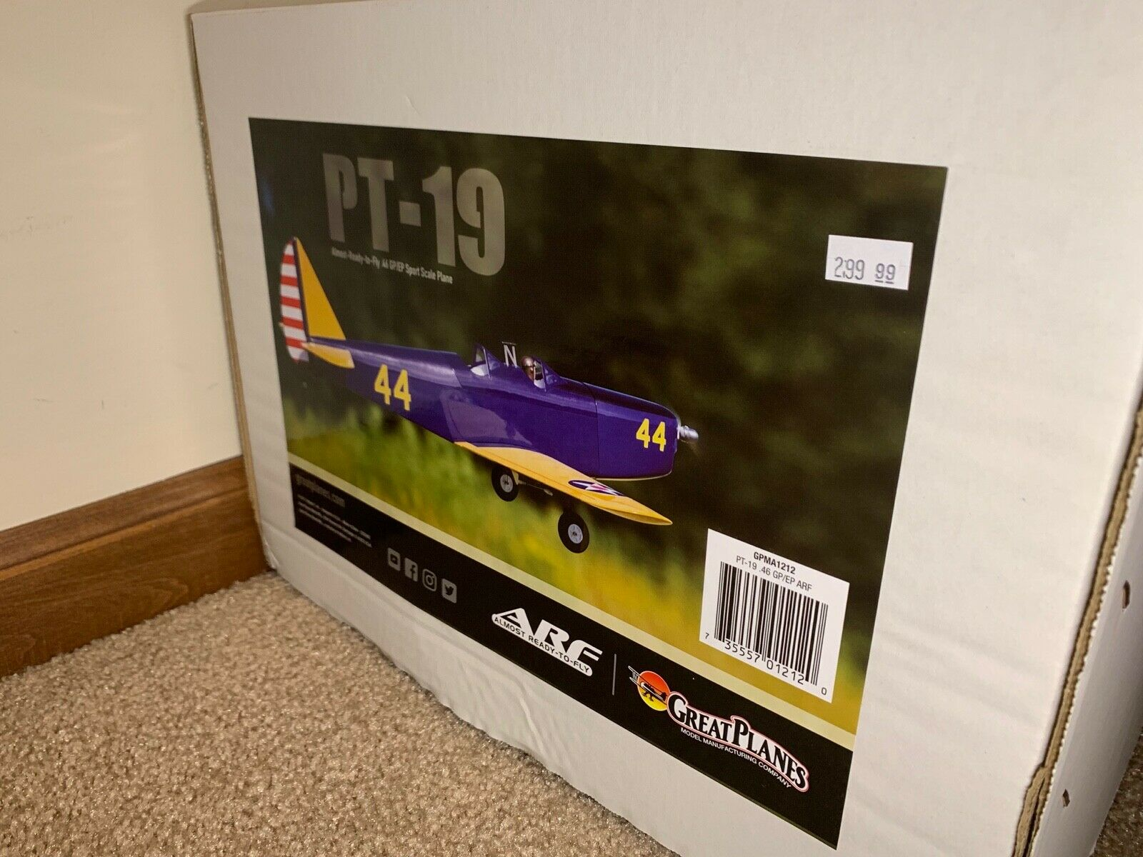 New Great Planes PT-19 Sport Scale  46 GP/EP Almost Ready to Fly ARF RC  Airplane