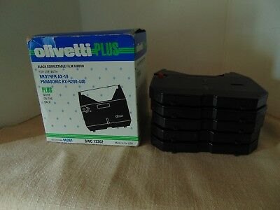 Olivetti Typewriter Ribbon Black Correctable Film Ribbons Lot Of 5 Ribbons