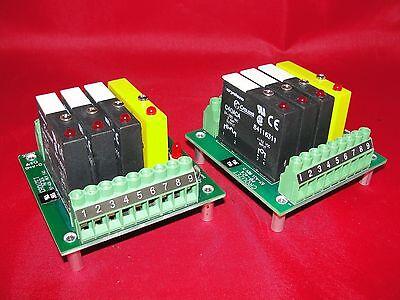 Crydom Crouzet Pb-4c4 57-431 Board W 3 C40aca Output Modules C41ac Lot Of 2