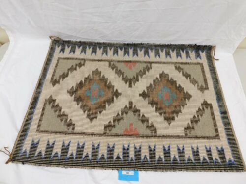 122/222 AUTHENTIC NAVAJO RUG ~ WOVEN BY EVELYN YAZZLE OF FOUR CORNERS ~ JAN. 13,
