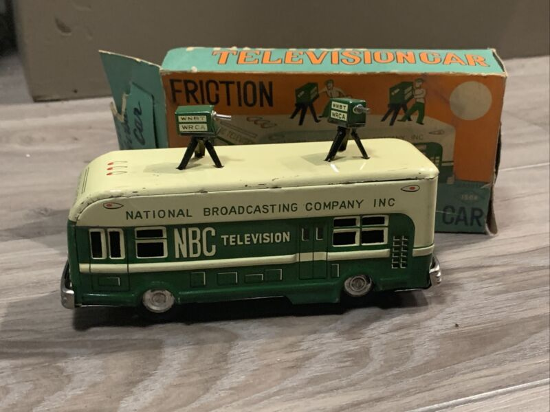Friction Television Car NBC Asahiloy 1950s Rare In Box Collectible