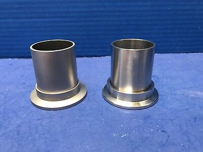 Stainless Steel Adapter Nw40 Flange To Tube Fitting Lot Of 2 New Wf