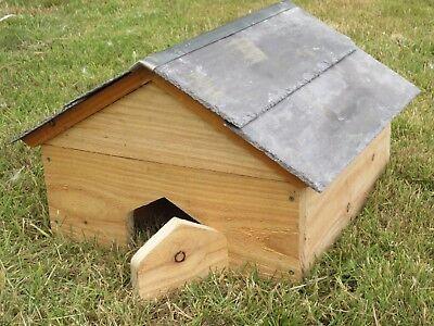 Hedgehog House Welsh Larch & slate roof -  hog Home Shelter breeding feeding