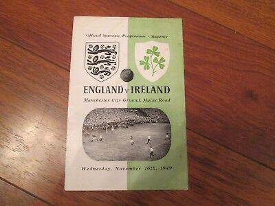 1949 ENGLAND v IRELAND @ MANCHESTER CITY