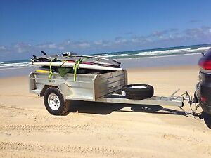 NEW 7x4 OFFROAD BRAKED OFF ROAD GALVANISED BOX TRAILER CAMPER 4X4 HEAVY DUTy