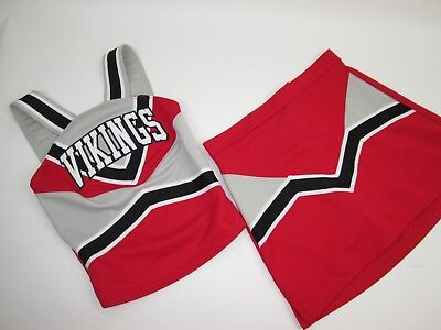 NEW VIKINGS Cheerleader Uniform Cheer Outfit Child Yth Teen 30