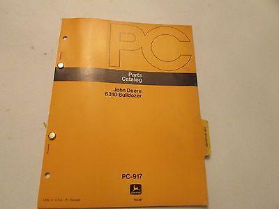 John Deere Pc-917 Bulldozer 6310 Parts Catalog Manual