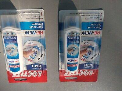 Loctite Kitchen Bathroom Re-new Caulk 3.3 Oz Tube Silicone Remodel 2 Packs