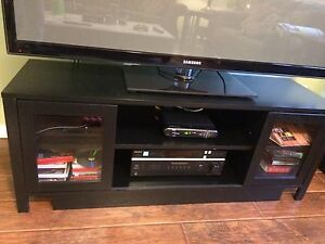 Large black tv stand