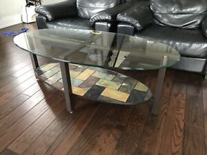 Glass Coffee Table, and matching End Table