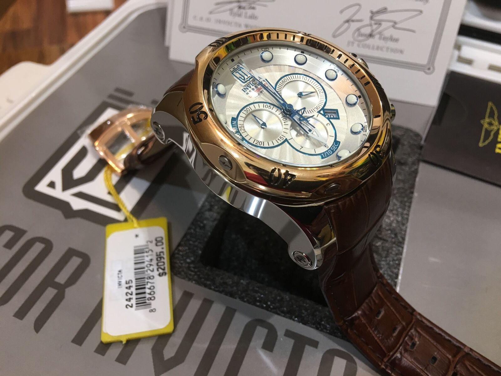 Invicta Men's 23911 Bolt Quartz Chronograph Gold Dial Watch