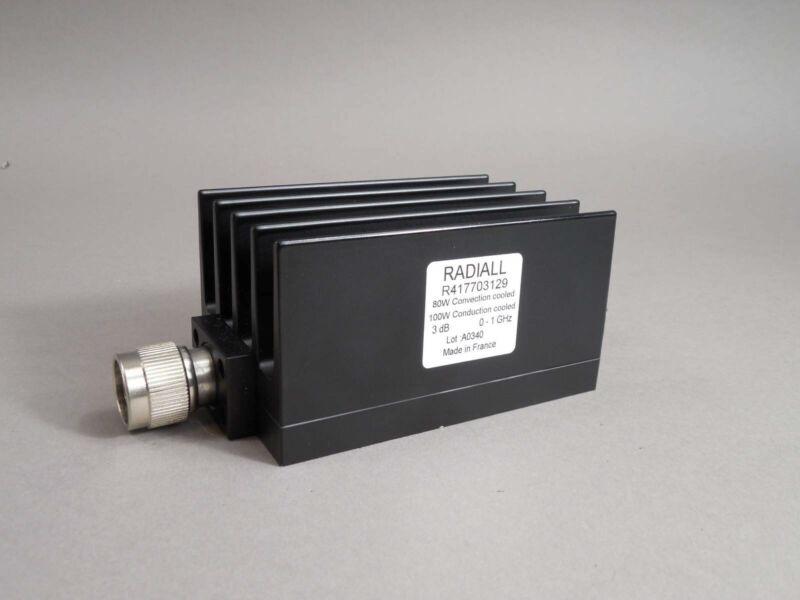 Radiall R417703129 RF Attenuator 3dB 80W