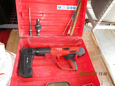 Hilti Dx 460 F10 Mx72 Powder Actuated Nail Gun Kit Combo Nice 855