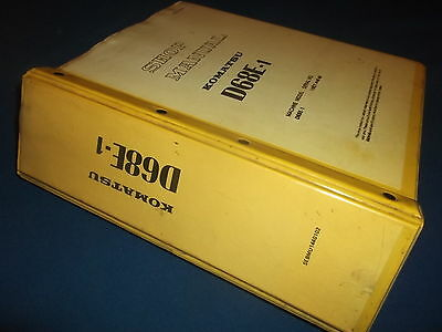 Komatsu D68e 1 Crawler Tractor Dozer Service Shop Repair Book Manual Original