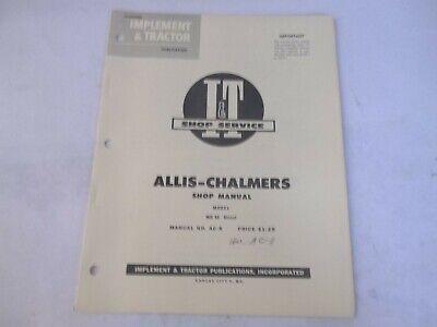It Shop Service Allis-chalmers Wd45 Diesel Shop Manual