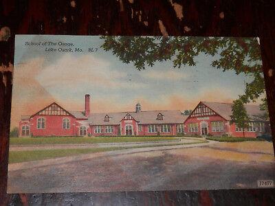 Lake Ozark Mo   Rare 1948 Postcard   School Of The Osage