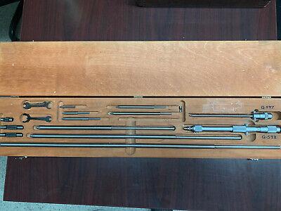 Starrett 124c 2-32 .001 Inside Micrometer Set Machinist Internal Mic Tool