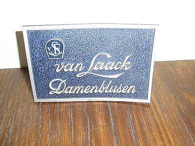 alter Papp Werbe Aufsteller van Laack Damenblusen 14,5x10cm Mode Reklame
