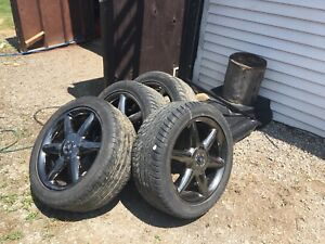 Set of Cadillac/charger/Chevy 18inch rims tires