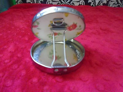 Compact Mirror-flowers and butterflies- Vintage Mid Century Modern