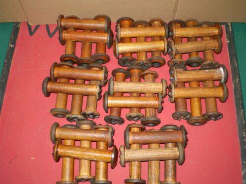 Vintage Industrial Wooden Spools Lots Of 40